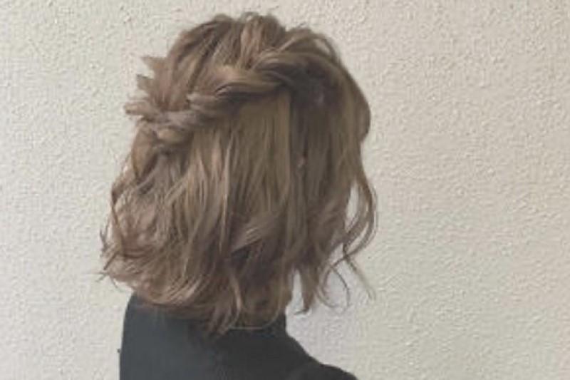 華やかな前髪編み込み